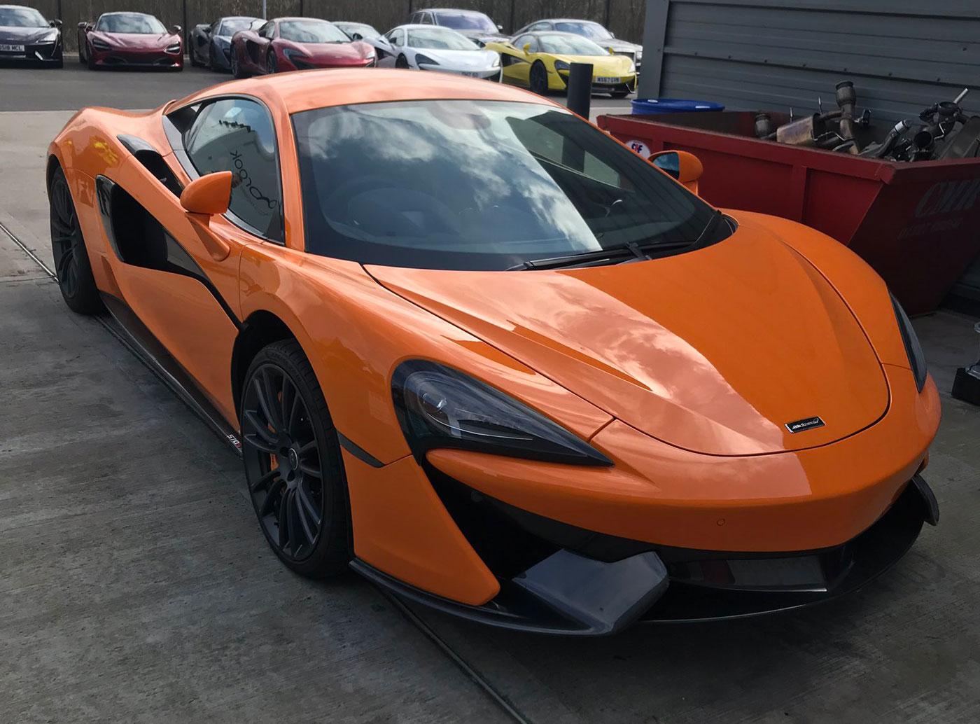 McLaren-dief maakt het de politie makkelijk